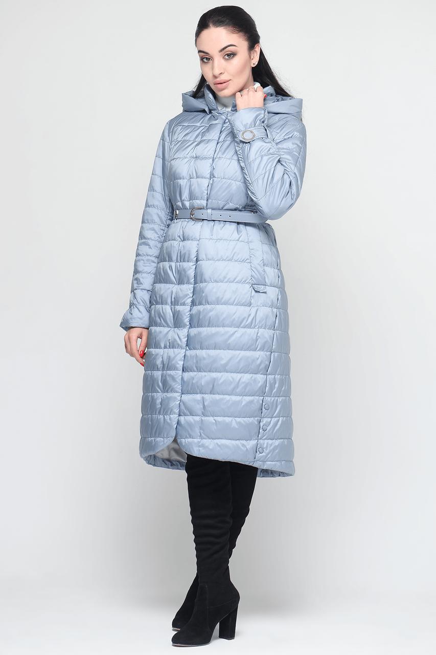 Удлиненная классическая женская куртка CW18C038CW голубого цвета