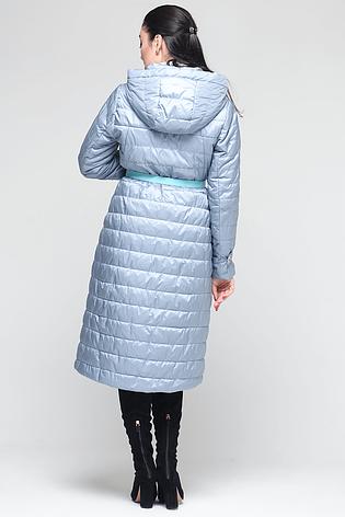 Удлиненная классическая женская куртка CW18C038CW голубого цвета, фото 2