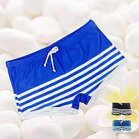 Мужские плавки боксеры пляжные в полоску синие опт, фото 1