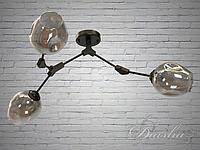 """Потолочная люстра в стиле Loft - """"Молекула"""" на 3 лампы"""