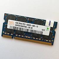 Оперативная память для ноутбука Hynix SODIMM DDR2 4Gb 800MHz 6400s CL6 (HMP351S6AFR8C-S6 AB) Б/У, фото 1