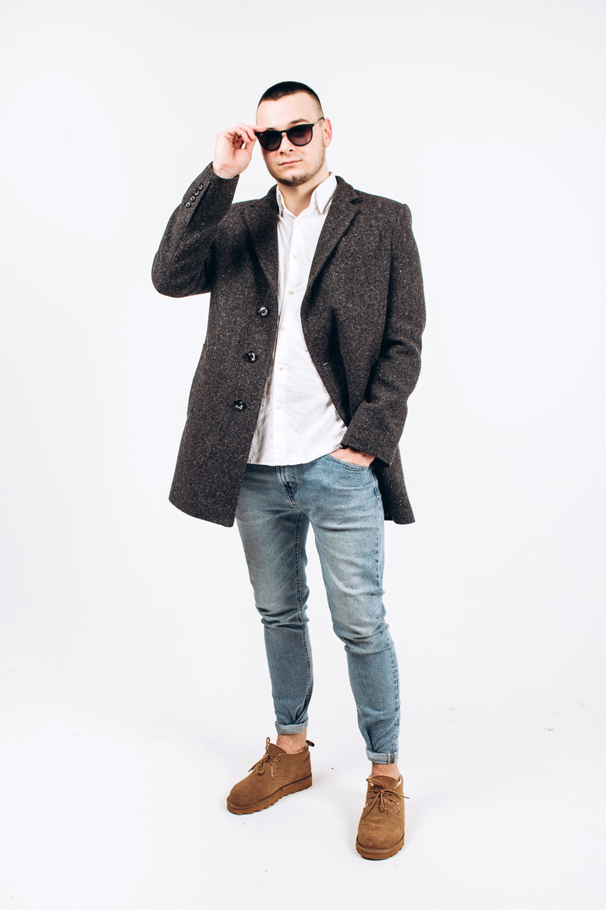 Пальто мужское из твида М3
