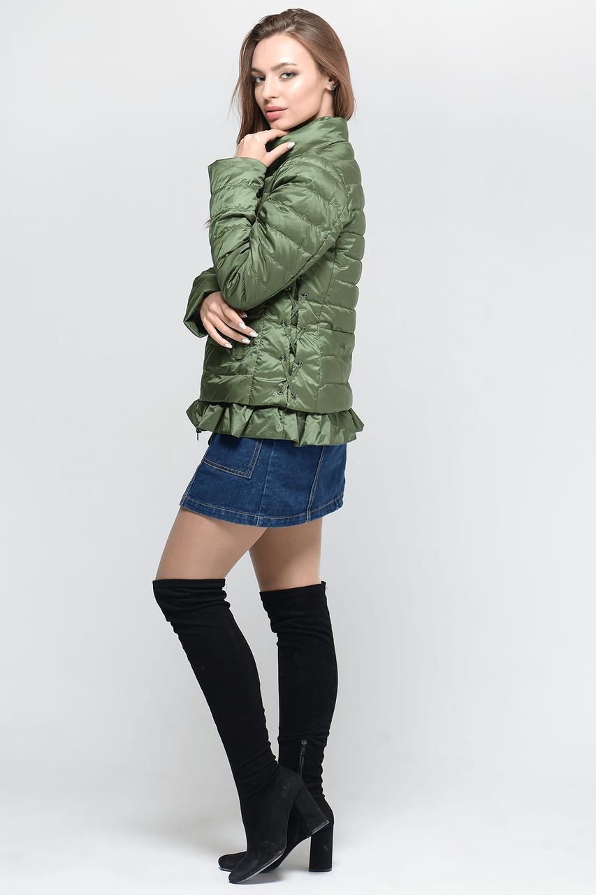 Короткая стильная женская куртка СW18C051CW зеленая