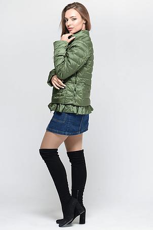 Короткая стильная женская куртка СW18C051CW зеленая, фото 2