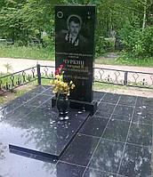Гранитный прямоугольный памятник 120*60*5 с надгробной плитой