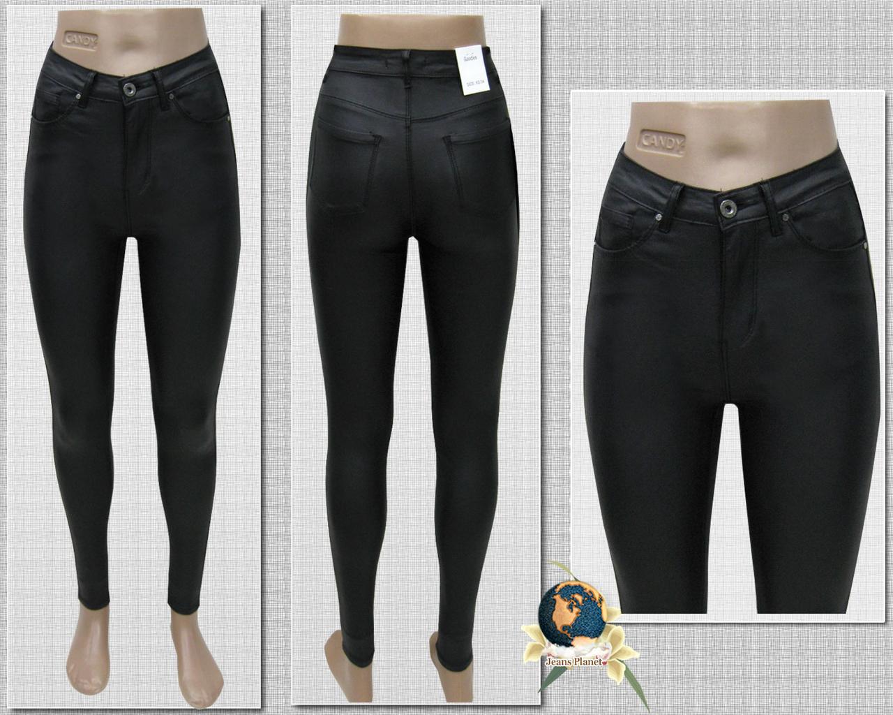0f0a2c405e8 Джинсы женские зауженные с высокой посадкой кожа-стрейч чёрного цвета