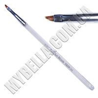 Кисть для рисования (прозрачная ручка) плоская скошенная 5х4мм