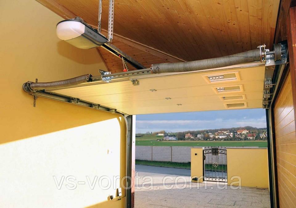 Ворота TREND размер 5000х2200 мм - ALUTECH Белоруссия, гаражные секционные