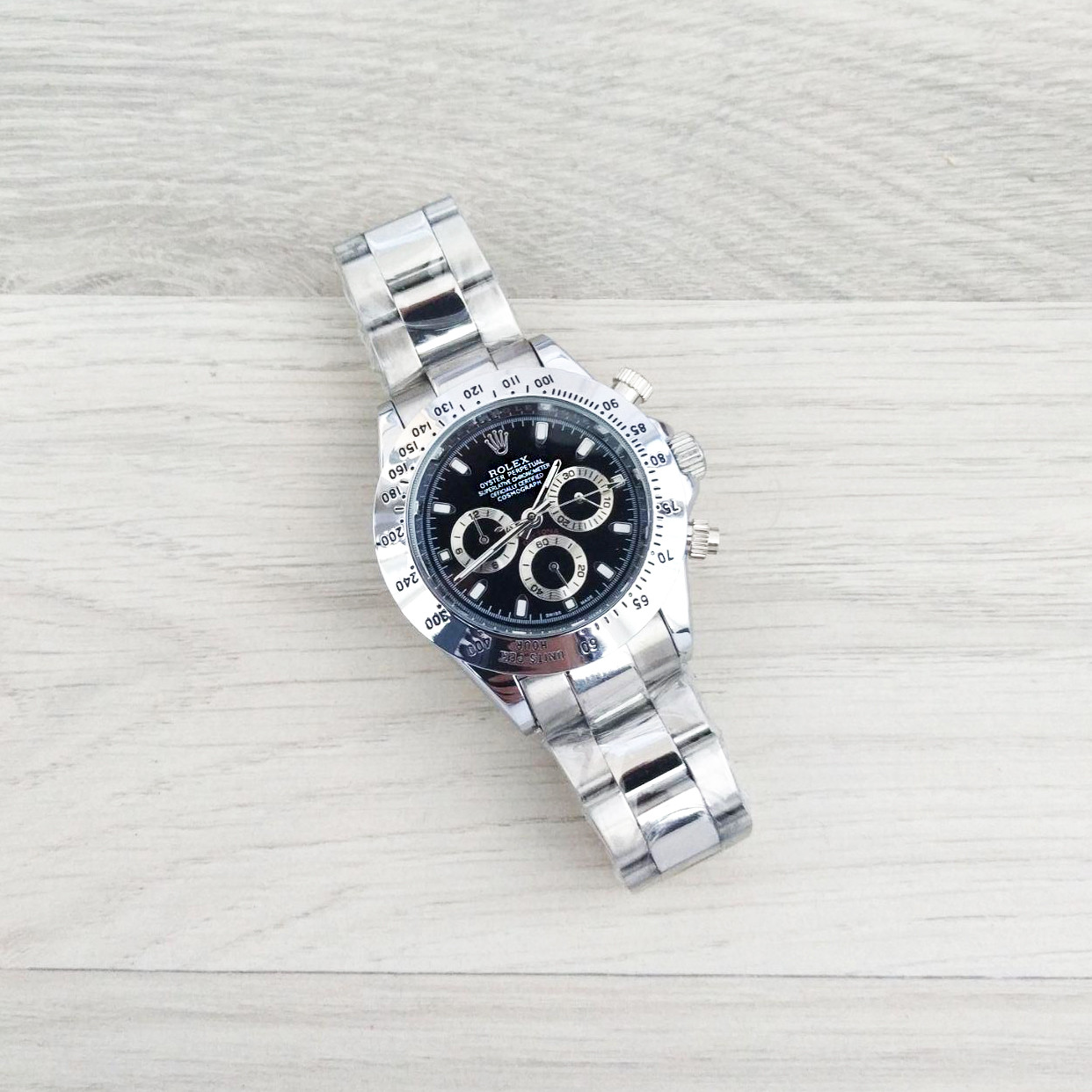 Наручные мужские часы Rolex Daytona AA Silver-Black New