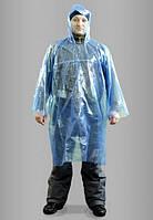 Сплошной полиэтиленовый плащ-дождевик, фото 1