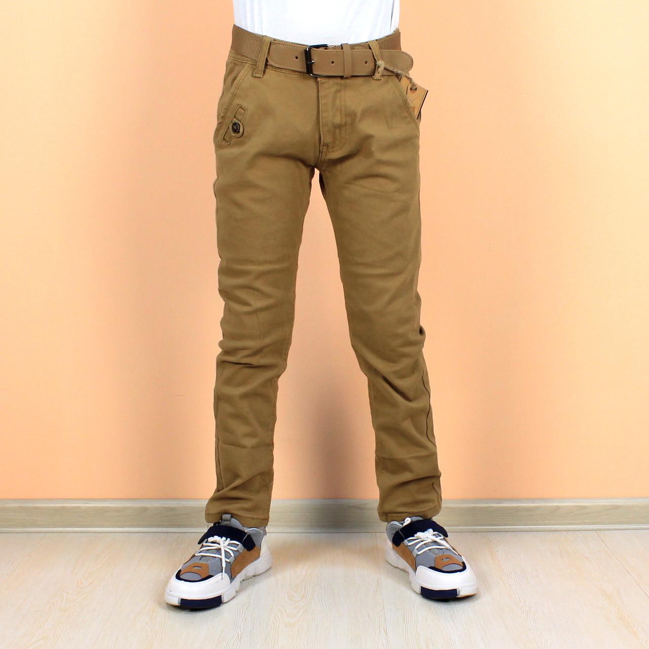 Детские джинсы штаны горчичные на мальчика тм race Венгрия размер 146