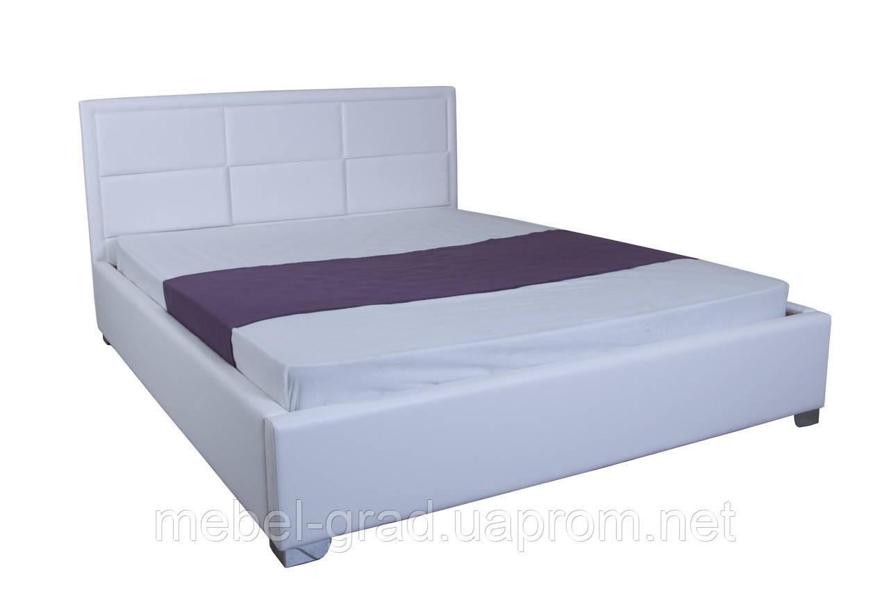 Кровать с мягким изголовьем Агата MELBI 140х200