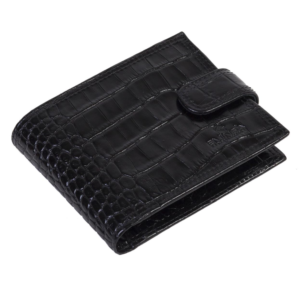 Мужское портмоне Eminsa 1043-4-1 кожаное черное
