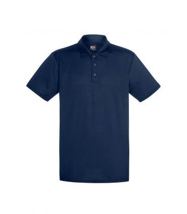 Мужская спортивная футболка поло темно синяя 038-АЗ
