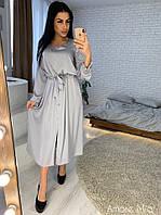 Платье нежное миди из шелка с пышной юбкой Sml3054