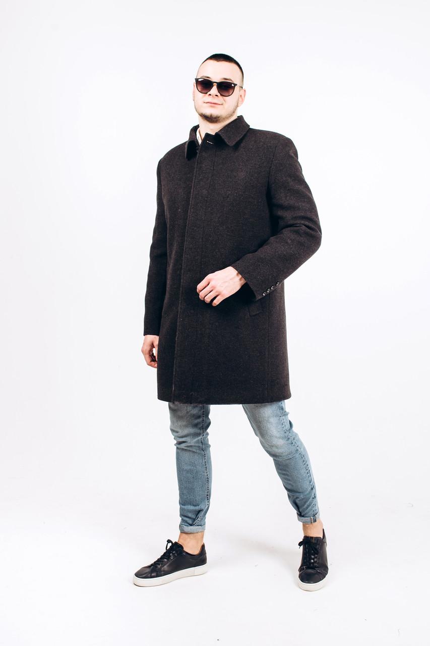Пальто мужское из шерсти серой М4