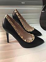 Стильные женские туфли-лодочки черные