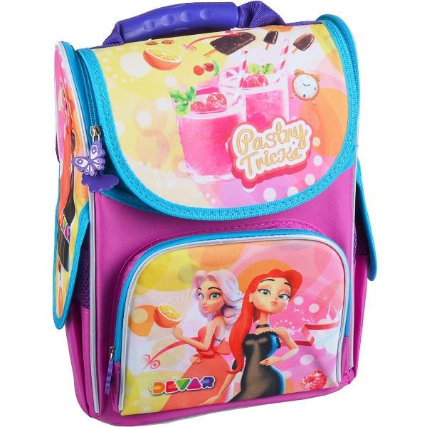 Рюкзак Smile ортопедический для девочки ЖИВОЙ 988153 ранец каркасный