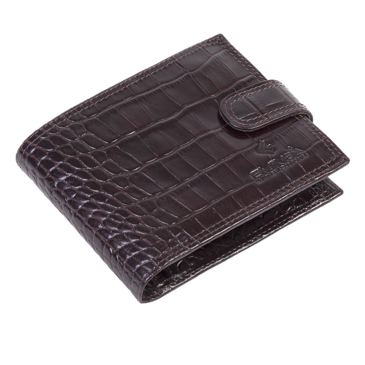 Мужское портмоне Eminsa 1043-4-3 кожаное коричневое