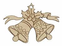 Деревянные новогодние украшения Shasheltoys Колокольчик 9 см (010219)