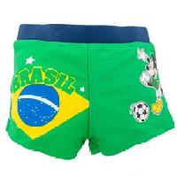 Детские купальные плавки шорты для мальчика Микки Маус, зеленые (DS15)