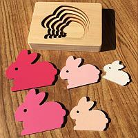 Деревянная развивающая многослойная 3D головоломка Кролик CandyWood