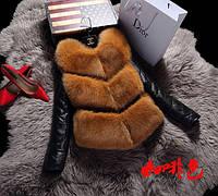 Хутряна жилетка (штучне хутро) / Меховая жилетка (эко-мех) М-ка, фото 1