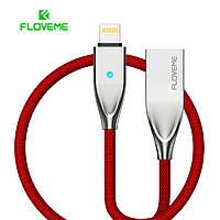 Usb кабель быстрой зарядки  Floveme с разъемом Lightening для iPhone, iPad 1,2 м (красный)
