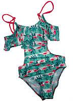 Детский сдельный детский купальник Keyzi, зеленый (PR059)