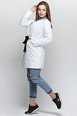 Стильная женская демисезонная куртка CW18C086ACW белая фирмы CLASNA, фото 3