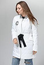 Стильная женская демисезонная куртка CW18C086ACW белая фирмы CLASNA, фото 2