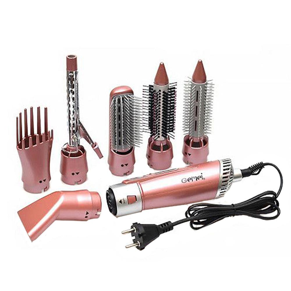 Воздушный стайлер для волос 7 в 1 Gemei GM-4831 мощный стайлер фен расческа-плойка