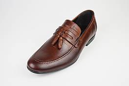Лоферы кожаные коричневые Tapi 6351