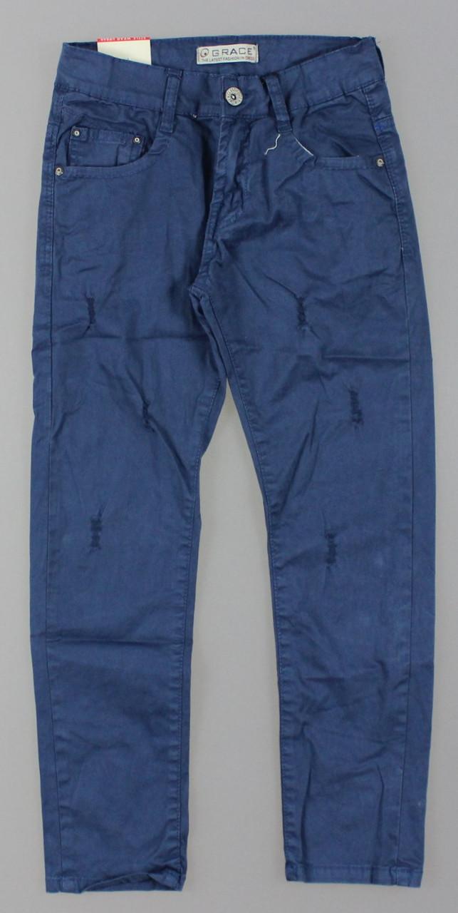 Котоновые брюки для мальчиков Grace оптом , 134-164 рр. {есть:152}
