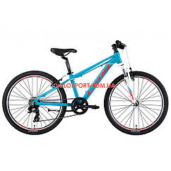 Подростковый велосипед Leon Junior AM Vbr 24 дюйма бирюзовый