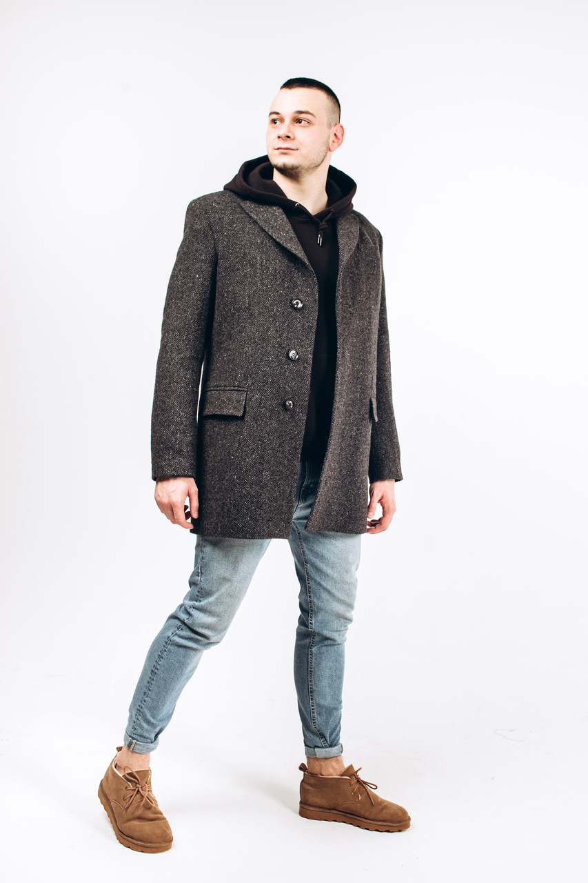 Пальто мужское из твида М8