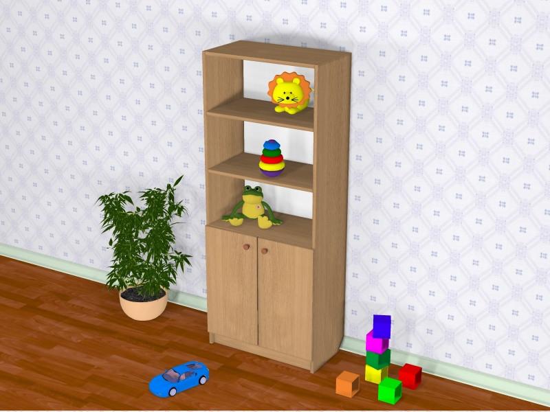 Шкаф детский Д-2 (600*320*1491h)