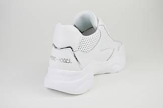 Кроссовки белые на платформе кожаные Ditas 23, фото 2