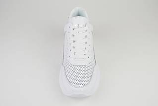 Кроссовки белые на платформе кожаные Ditas 23, фото 3