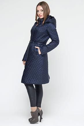 Классическая женская куртка CW18C132CW темно-синяя , фото 2