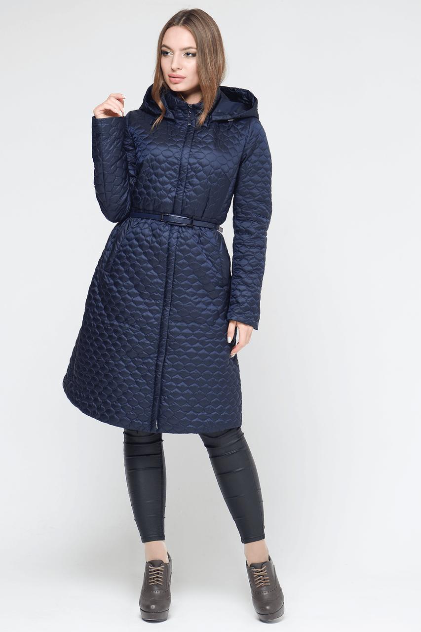 Классическая женская куртка CW18C132CW темно-синяя