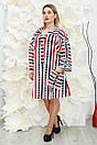 Сукня сорочка великого розміру Кепс червоний, фото 2