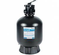 Фильтровальная емкость AZUR, 660 мм, 16,5 м3/ч 6-ходовой верхний клапан, 255 кг песка, фото 1