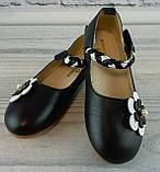 Балетки для девочек Цветок Черный Apawwa Румыния размер 35, фото 2