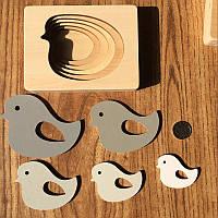 Деревянная развивающая многослойная 3D головоломка Птичка CandyWood