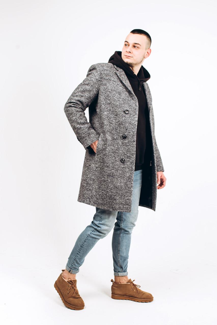 Пальто мужское из шерсти вареной М9