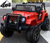Детский электромобиль Jeep Monster: 4 мотра, 2 акум-ра, кож.сидение, резин.колеса EVA