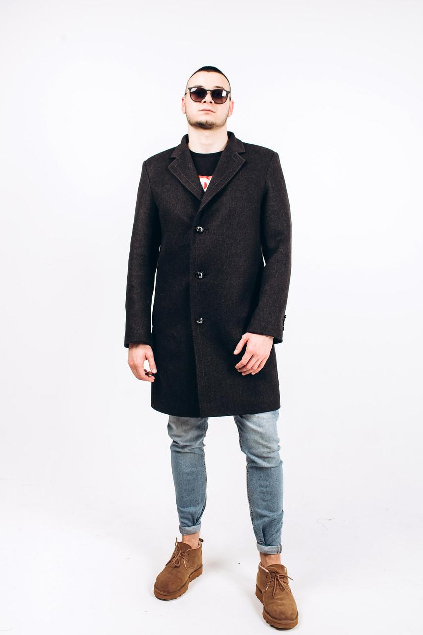 Пальто мужское из шерсти серой М9