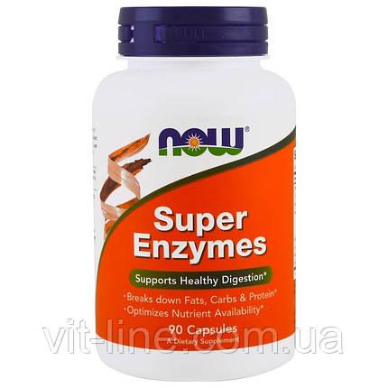 Now Foods, суперферменты, энзимы 90 капсул, фото 2