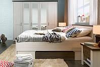 Спальня 160 BRW Luca 160 Содержит SZF5D, LOZ 160, KOM1 x2 лиственница сибиу /  сосна ларико
